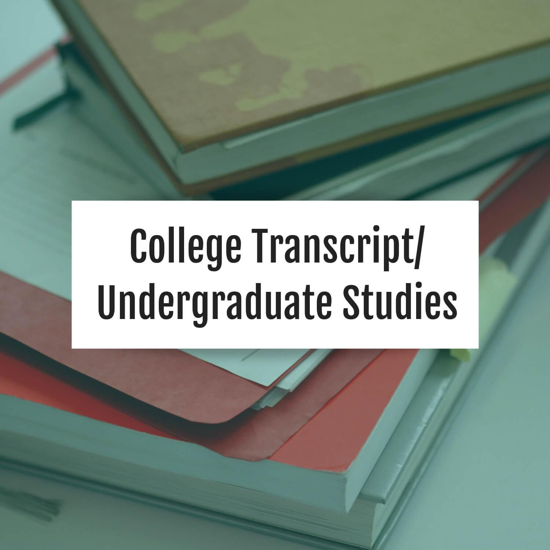 college-transcript-undergraduate-studies