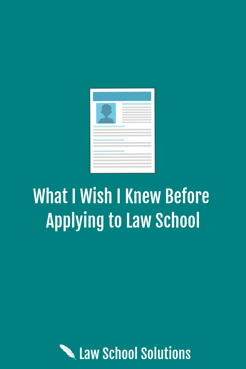Before Applying to Law School