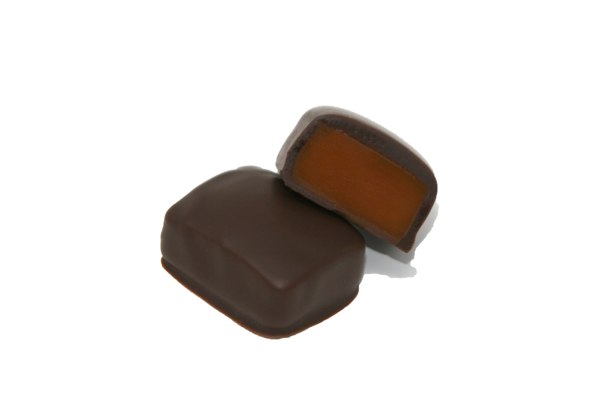 Dark Chocolate Honey Caramels - Our Dark Chocolate Honey Caramels are the perfect chocolate confection for any chocolate crazed connoisseur! We take our bestselling Honey Caramel and enrobe it in Callebaut Fairtrade 55% Belgian Dark Chocolate! It's the perfect combination of sweet honey, rich caramel and fine Belgian Dark Chocolate.