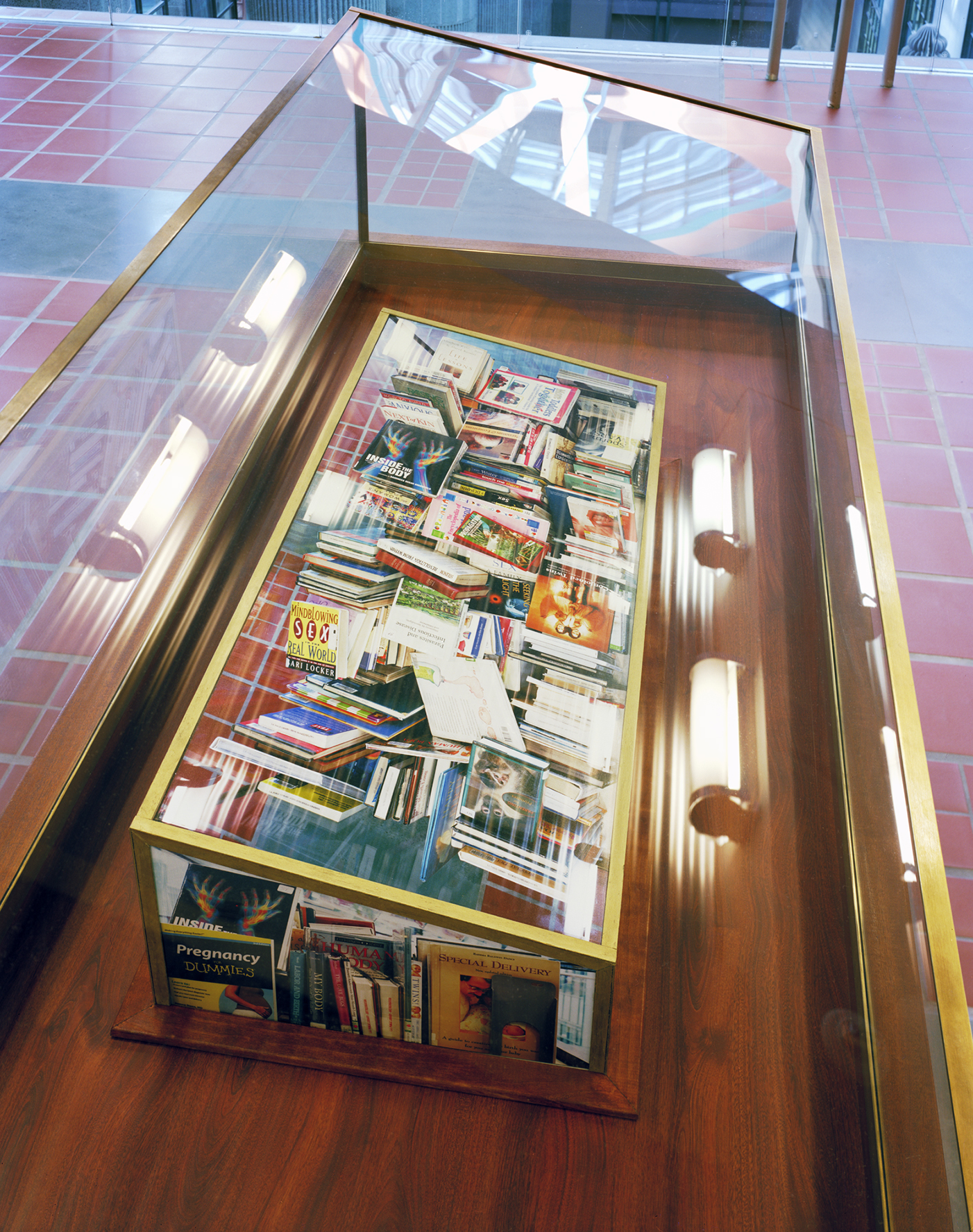 Paper Surrogate, Public Project ,  Los Angeles Central Library  (Top View), 2010 Wood, acrylic paint, and photographs      ————