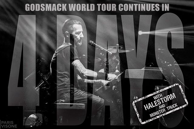 We're looking forward to partying with you all very soon! #GS2019 #WhenLegendsRise #WorldTour #Godsmack