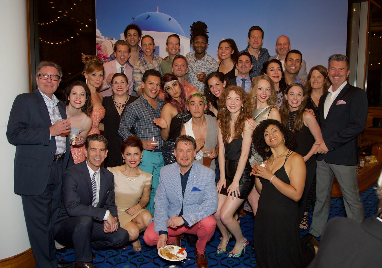 Cast and Creative Team of Mamma Mia! Photo by Peter B Meyers