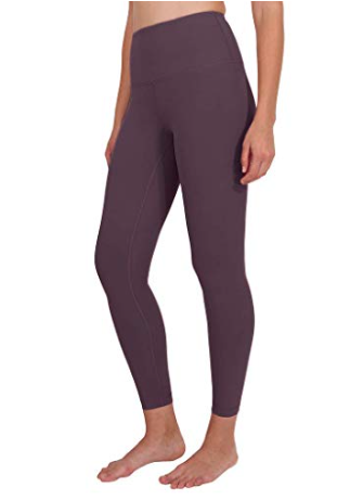 90 DEGREE HIGH WAISTED LEGGINGS - DUSTY ORCHID -