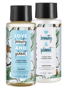 Love Beauty and Planet shampoo and conditioner -
