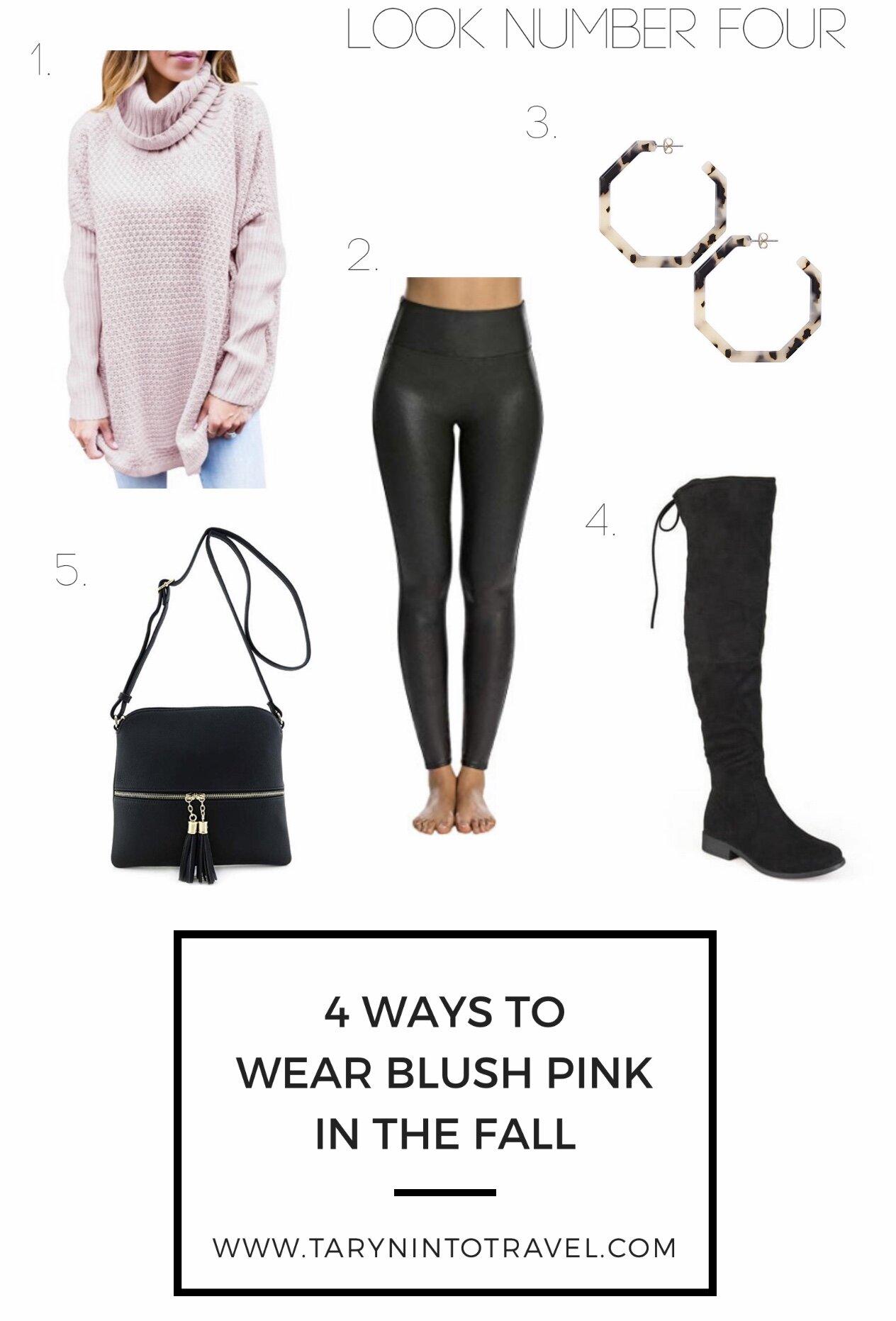 www.tarynintotravel.com | 4 Ways to Wear Blush Pink in the Fall | #blushpinkinthefall #fallhowto #pinkinfall