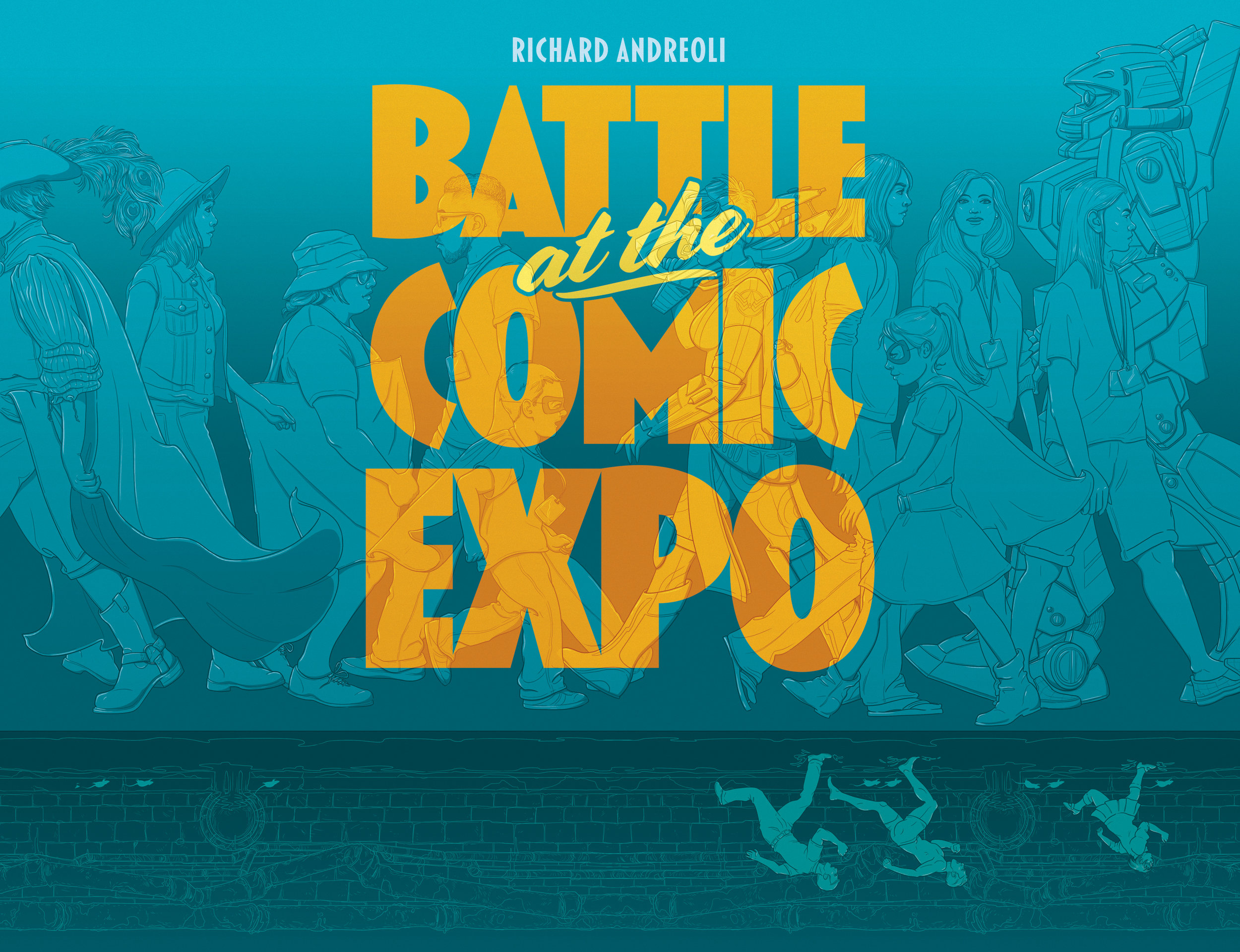 Battle at the Comic Expo front and back cover