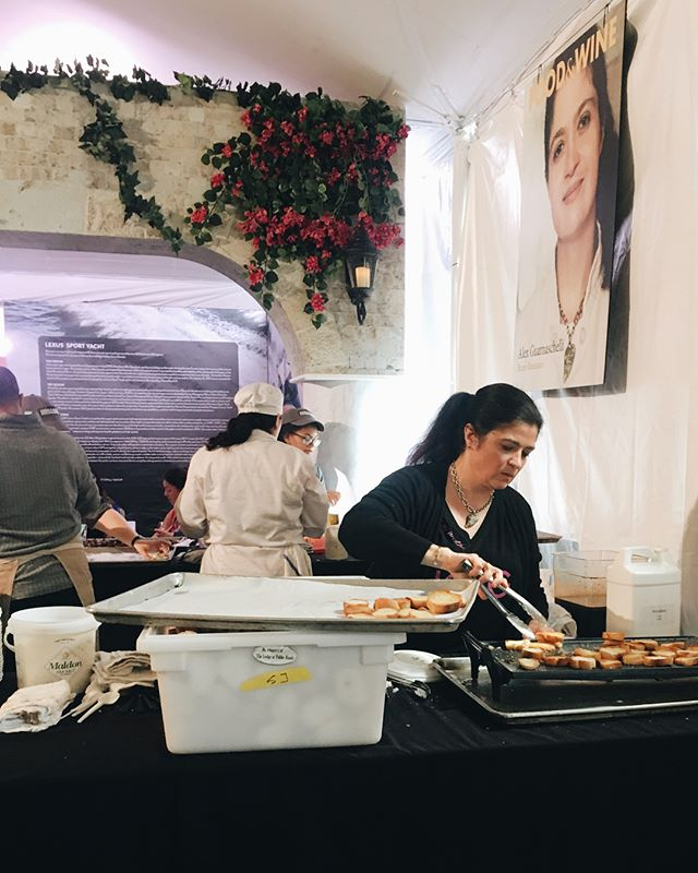 The most delectable bite prepared by @guarnaschelli the focus and work ethic #boss #pbfw #ironchef #AlexGuarnaschelli