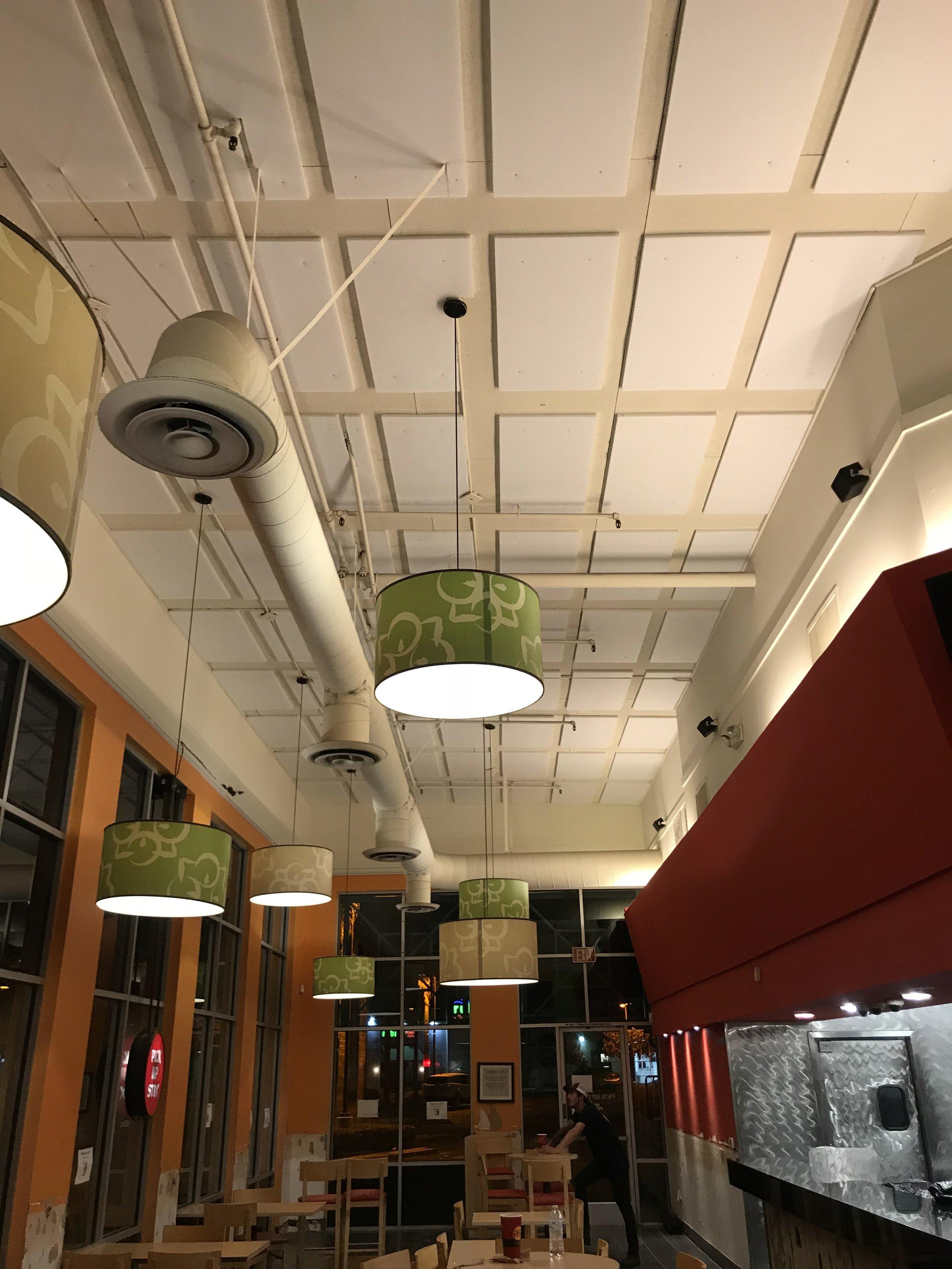 Restaurant Acoustic Ceiling