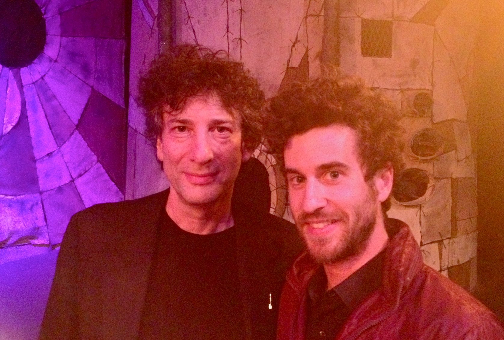 Writer, Neil Gaiman and Myself (Martin Morse)