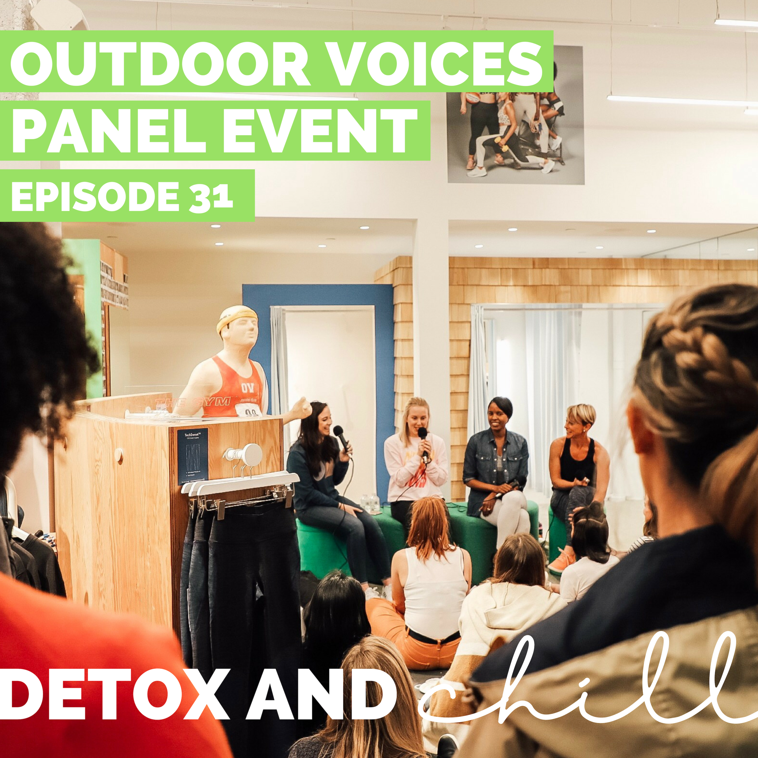 Episode #31: Outdoor Voices Panel Event ft. Wendy Williams and Ciara Clark // Managing Stress in the Millenial World - We know we've talked about in leading up to, and after the event, but we TRULY cannot express how grateful we are to have had our first live event at the amazing Outdoor Voices, in Boston.One thing that we both have dealt with while balancing the pod and our 9-5's (and seriously, EVERYONE deals with in today's world) is STRESS. And let's be honest, we're not going to prevent stress in our lives, so we wanted to bring a panel of amazing women who could talk to us about how to MANAGE our stress better in our day-to-day lives. This episode is a LIVE version of our podcast…which was totally new and crazy for us! We usually are in our comfy clothes recording in Beck's apartment, so this was definitely something different. We absolutely LOVED it - so be on the lookout for the future as we plan some more events in the new year!We couldn't have chosen a more amazing and inspiring panel. Wendy Rue Williams and Ciara Clark talked about how they balance their crazy schedules and still make time for themselves. We asked them some tough questions and they gave us some great tips on self-care, readjusting for pivotal moments in our lives, and making an impact in our corporate jobs.We have to give the BIGGEST shout-out to our amazing sponsors for this event. The Oat Shop, Healthy Truth Foods, and Eats by Chloe came through with amazing treats. And of course, thank you to Outdoor Voices for the amazing space to all come together <3.We are SO honored and appreciative to every amazing lady who came out to this event, and we are so excited to hear what you think. We'd love to continue this conversation in our Facebook group and on Instagram. Our Facebook group is a safe space for anyone who joins, so don't forget to check us out there. Just search *SUPER EXLUSIVE* Detox & Chill Podcast Group. As always, don't forget to follow along with us on Instagram (@detoxandchillpodcast) and join our Facebook group. We love you!Xoxo,Meg & Beck