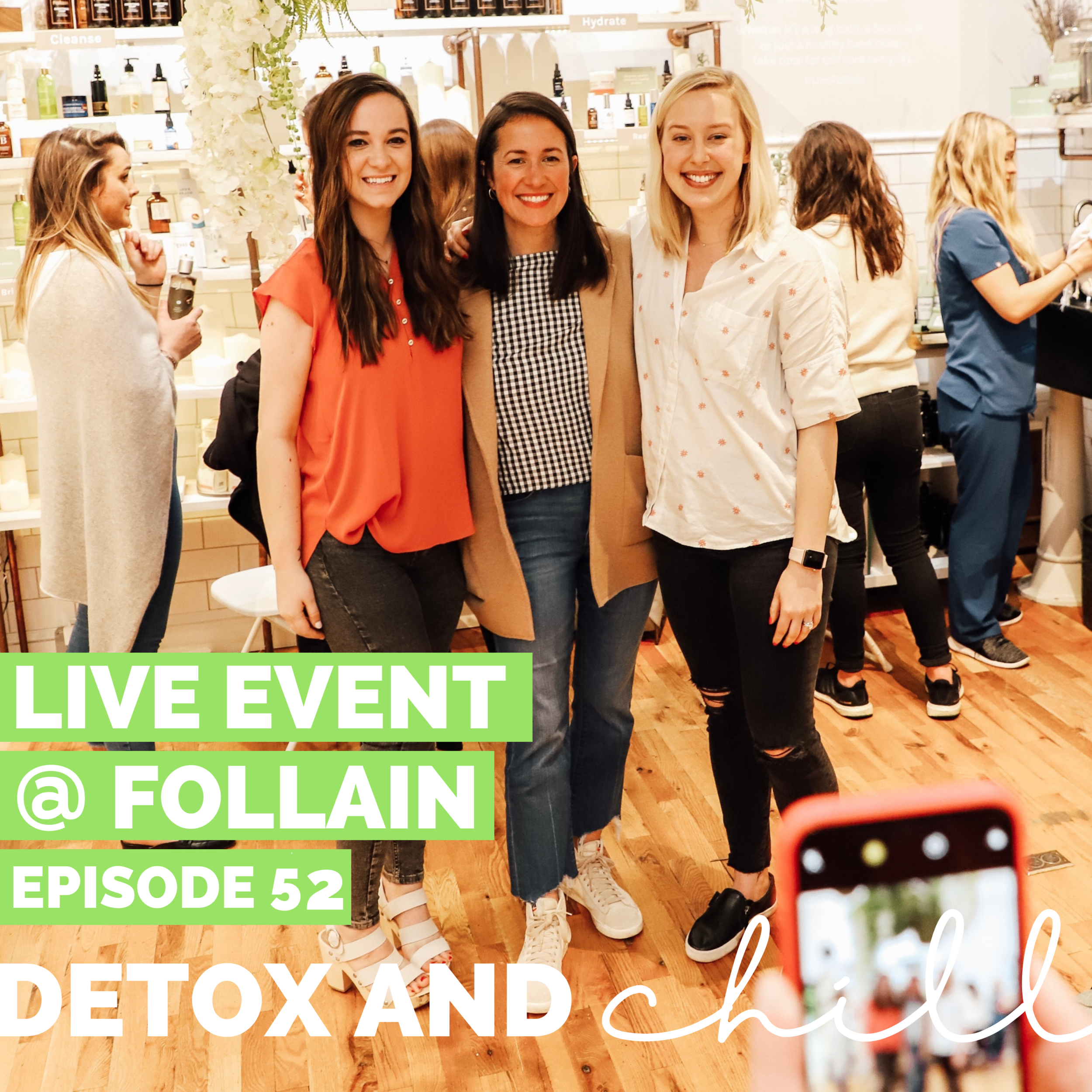 Episode #52: Live Event ft. Tara Foley // Founder & CEO of Follain // Saying Goodbye to Toxicity - To everyone who was able to stop by our event at the Follain storefront in Beacon Hill, THANK YOU! For anyone who didn't make it…good news! We have the live recording here for you to listen.Tara is someone who we look up to SO much as we build this podcast and make decisions for growth. If you listened to the first episode featuring Tara, we covered some new and different topics in this one. We talked about…->You gotta do the work and make the connections. Set up coffee meetings to learn more what other people do.->It's OK as an entrepreneur to have a safety net (a job that pays the bills, etc.) taking CALCULATED risks is what pays off big time.-> Fundraising is getting BETTER (slowly) for women. Tara had to answer a lot of questions about having kids when she was raising money for @follain...which def wouldn't have happened if she was a dude.-> Follain's own line is amazing and expanding! We loveeee the essential oils for our diffuser.-> It's our responsibility to figure out how to distill wellness to other non-coast areas, everyone deserves access to this information!-> Her non-negotiable products…like the Follain hand soap that she brings with her everywhere! This was honestly a lightbulb moment…a lot of the products available to us at work aren't clean or nontoxic.We also had some INCREDIBLE questions, so stay tuned to hear those and Tara's answers!We hope you enjoyed and would love to hear what you thought.We are so proud and excited about this episode and are so excited to hear what you think. We'd love to continue this conversation in our Facebook group and on Instagram. Our Facebook group is a safe space for anyone who joins, so don't forget to check us out there. Just search *SUPER EXLUSIVE* Detox & Chill Podcast Group. OR, click HERE to go right to that page! As always, don't forget to follow along with us on Instagram (@detoxandchillpodcast) and join our Facebook group. We love you!Xoxo,Meg & Beck