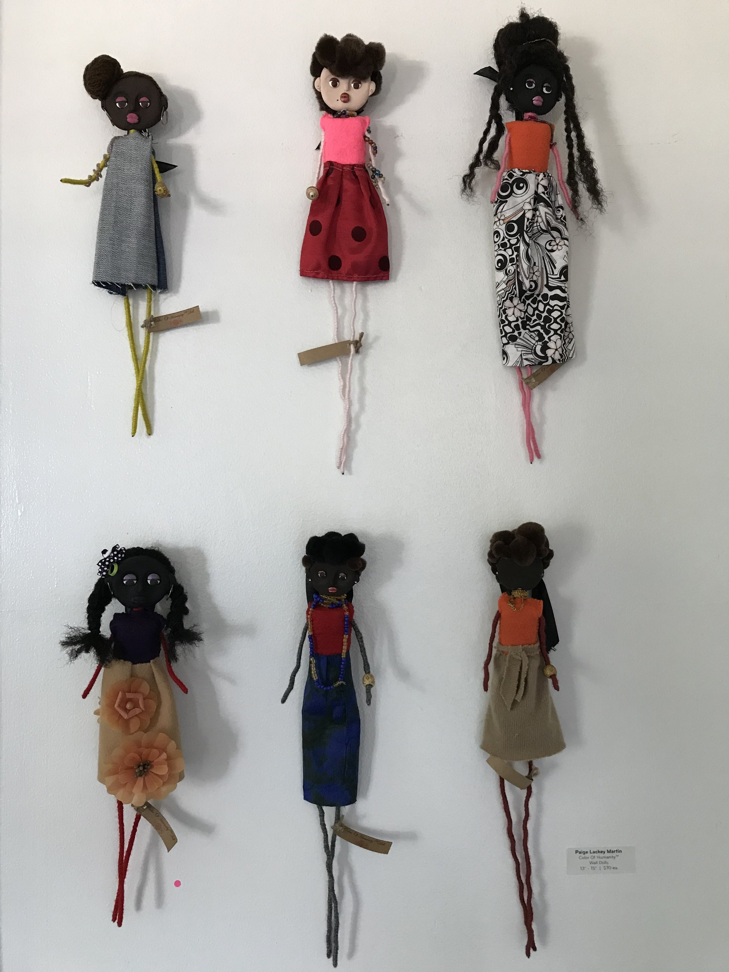 """Paige Lackey Martin  Color Of HumanityTM Wall Dolls   13"""" - 15""""   $70"""