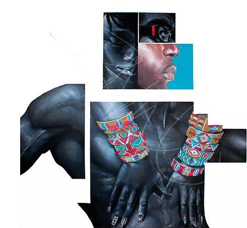 "Rameses Jones  ""Solidarity"" | 40"" x 40"" | $1100"