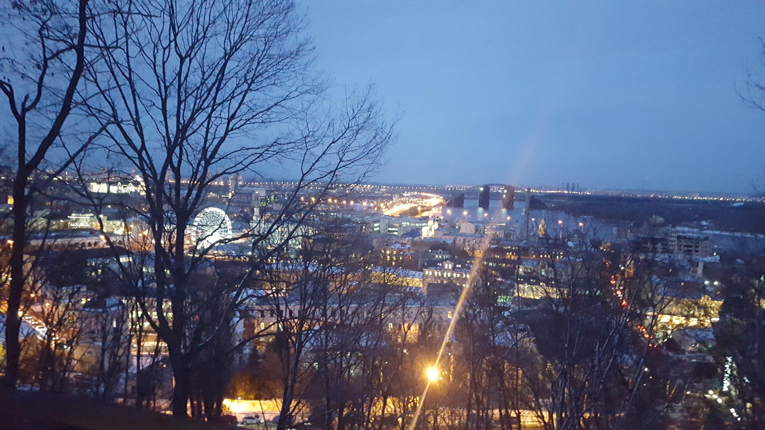 Kiev at night. 2/2019.
