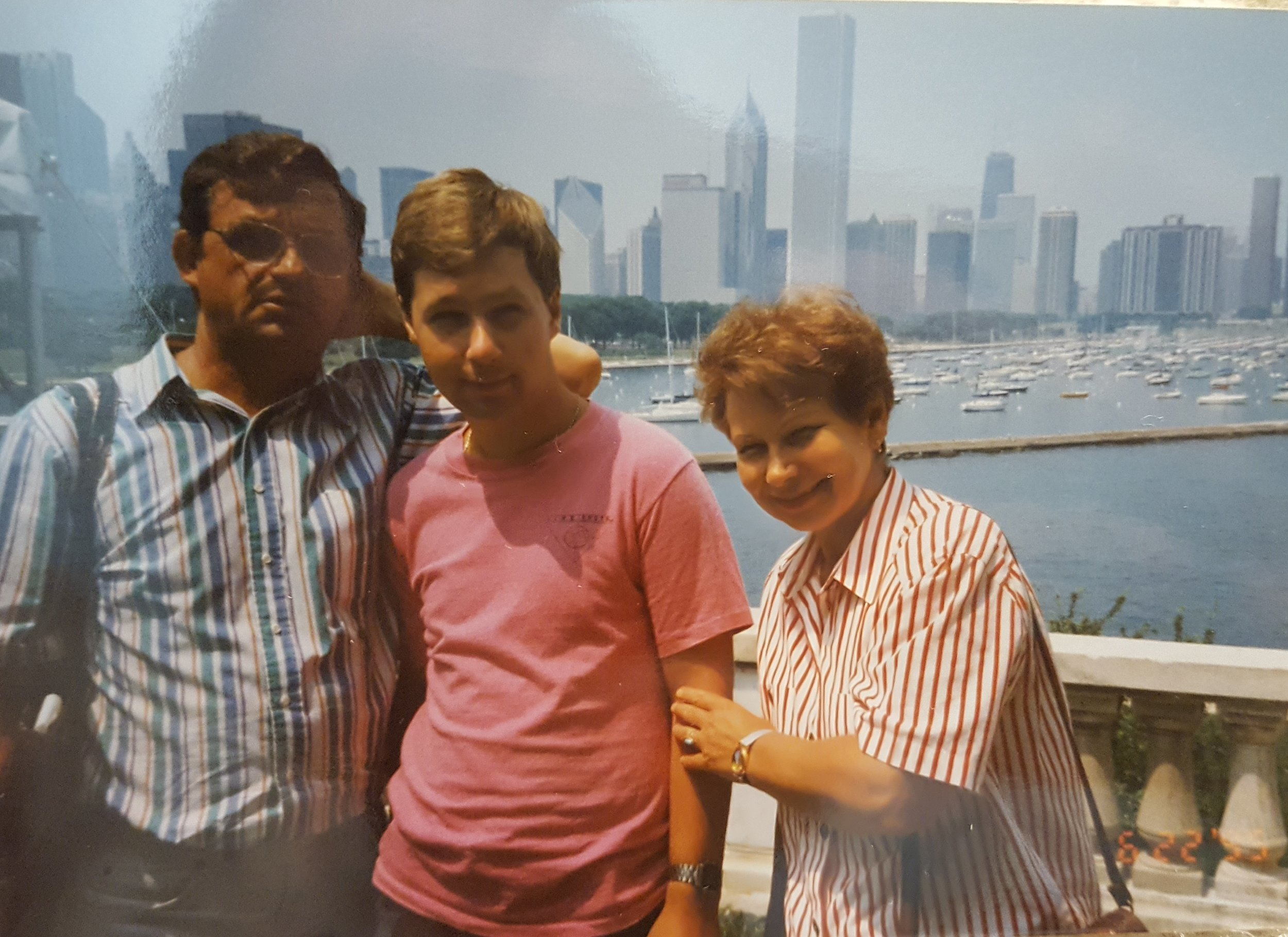 D. Vitya, Alesha, and Rimma's first visit to the States. 1995.