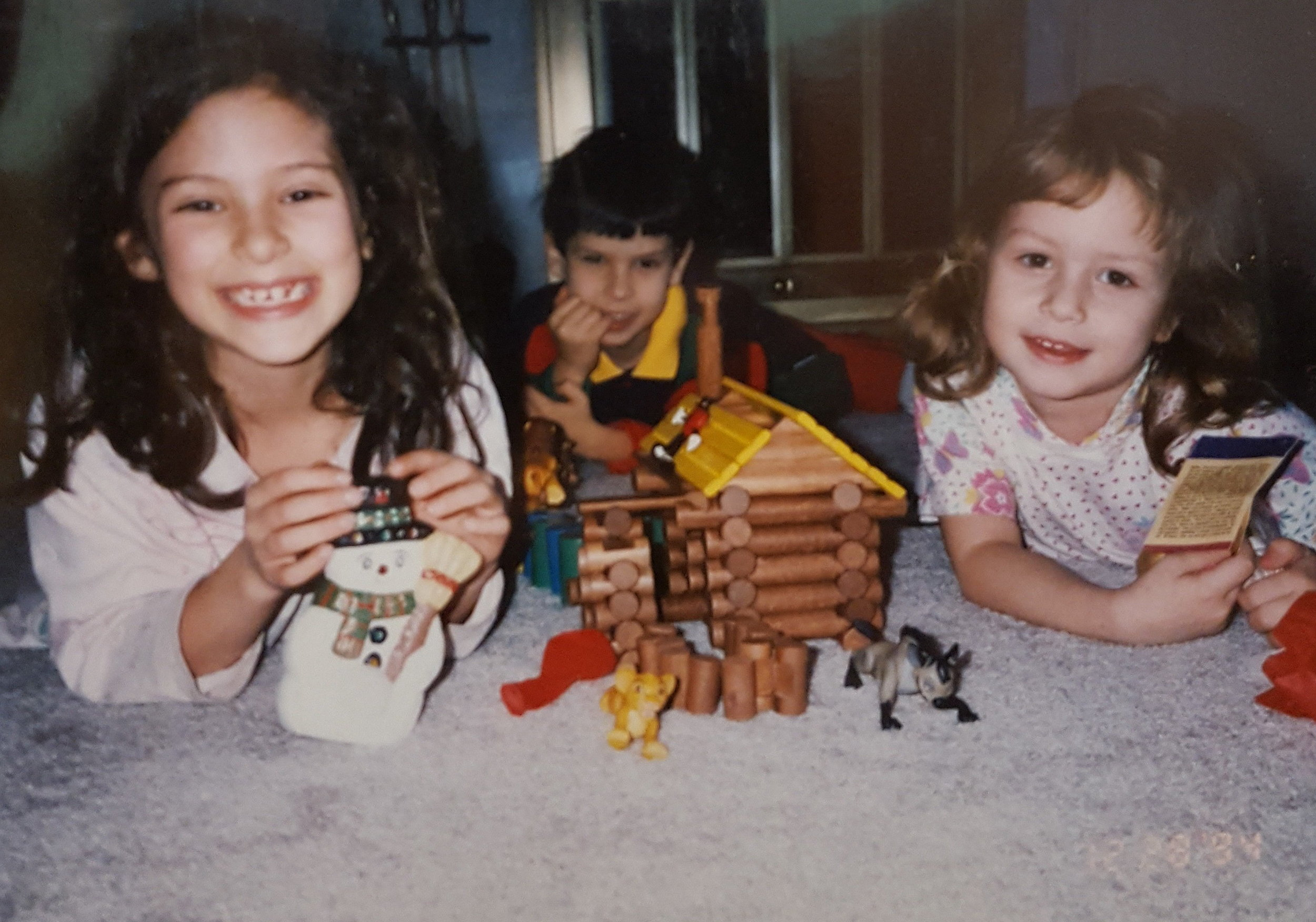My first real memories are with my cousins, Lina and Mark. I always loved those Simba figurines. I actually found a couple pushed back in a drawer in the guest room at Babushka's house a couple of years ago and it made me really happy. Chicago, 1994.