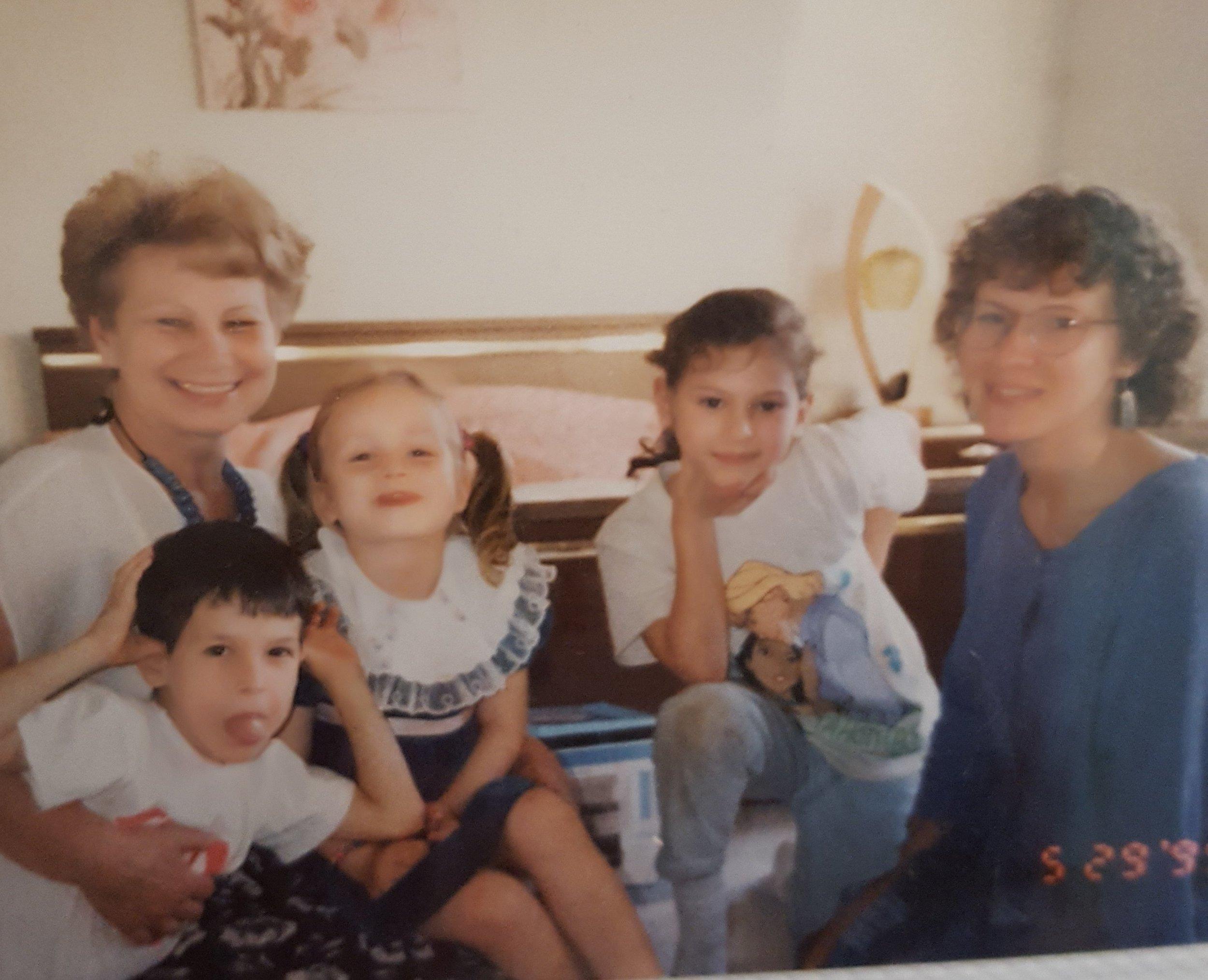 Rimma, Mark, Lina, Anna (Acya), and I in Chicago, 1995.