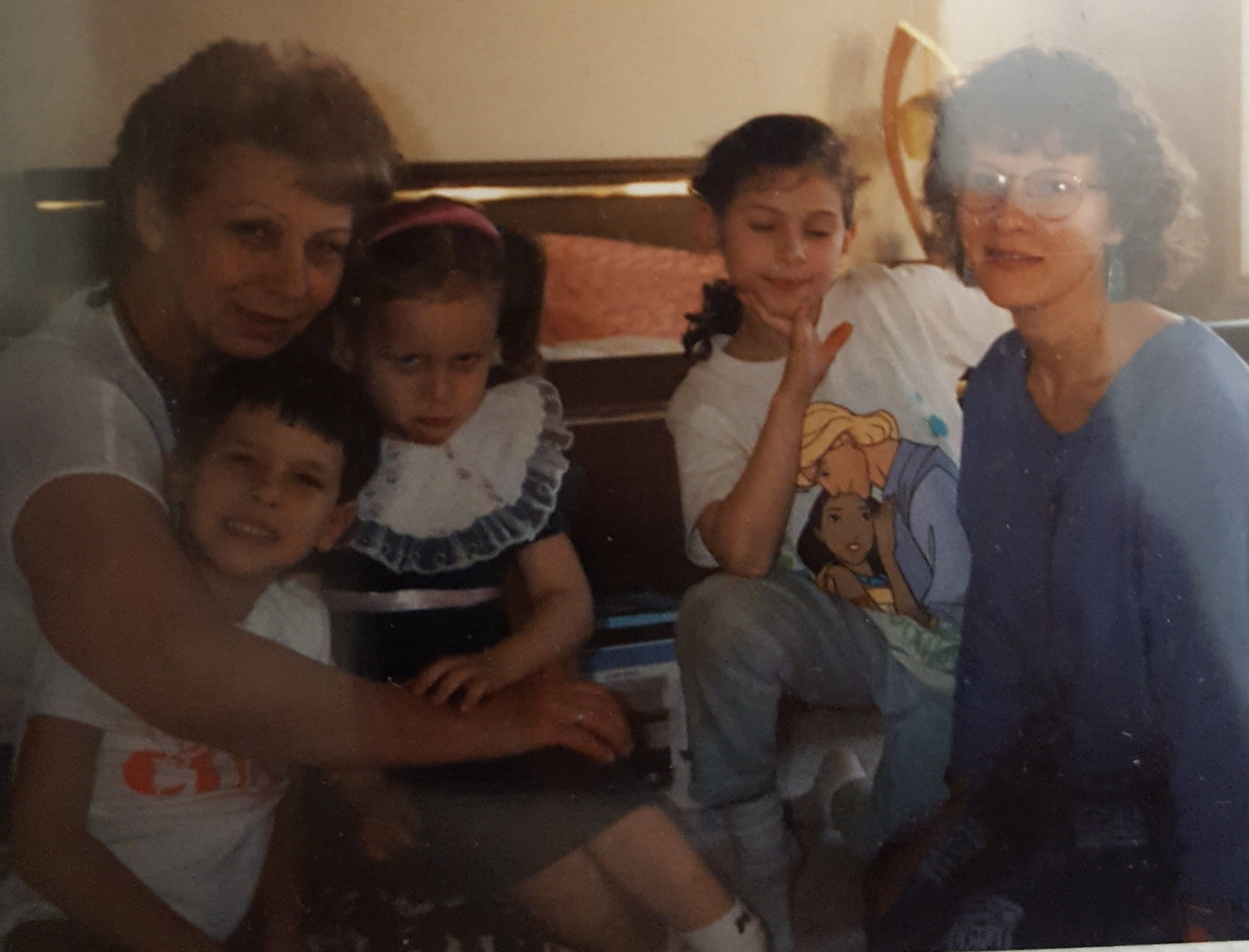 Rimma, Mark, Lina, Anna (Acya), and I in Chicago, 1995// The Sulker, apparently.