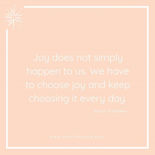 Sometimes we find ourselves waiting for things to be different, to feel better. Joy does not happen to us though, if we keep waiting....we will keep waiting. We have to choose joy, and we have to keep choosing it. ⠀⠀⠀⠀⠀⠀⠀⠀⠀ Will you choose joy today?