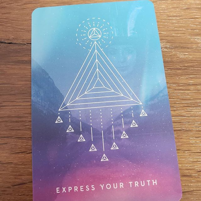 This is the card I pulled today. What if you expressed your truth today and trusted that it was enough?