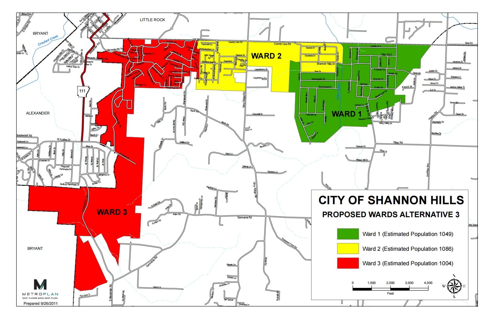 Shannon Hills Ward Map
