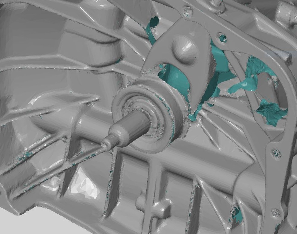 Raw STL file ready for CAD artefact -