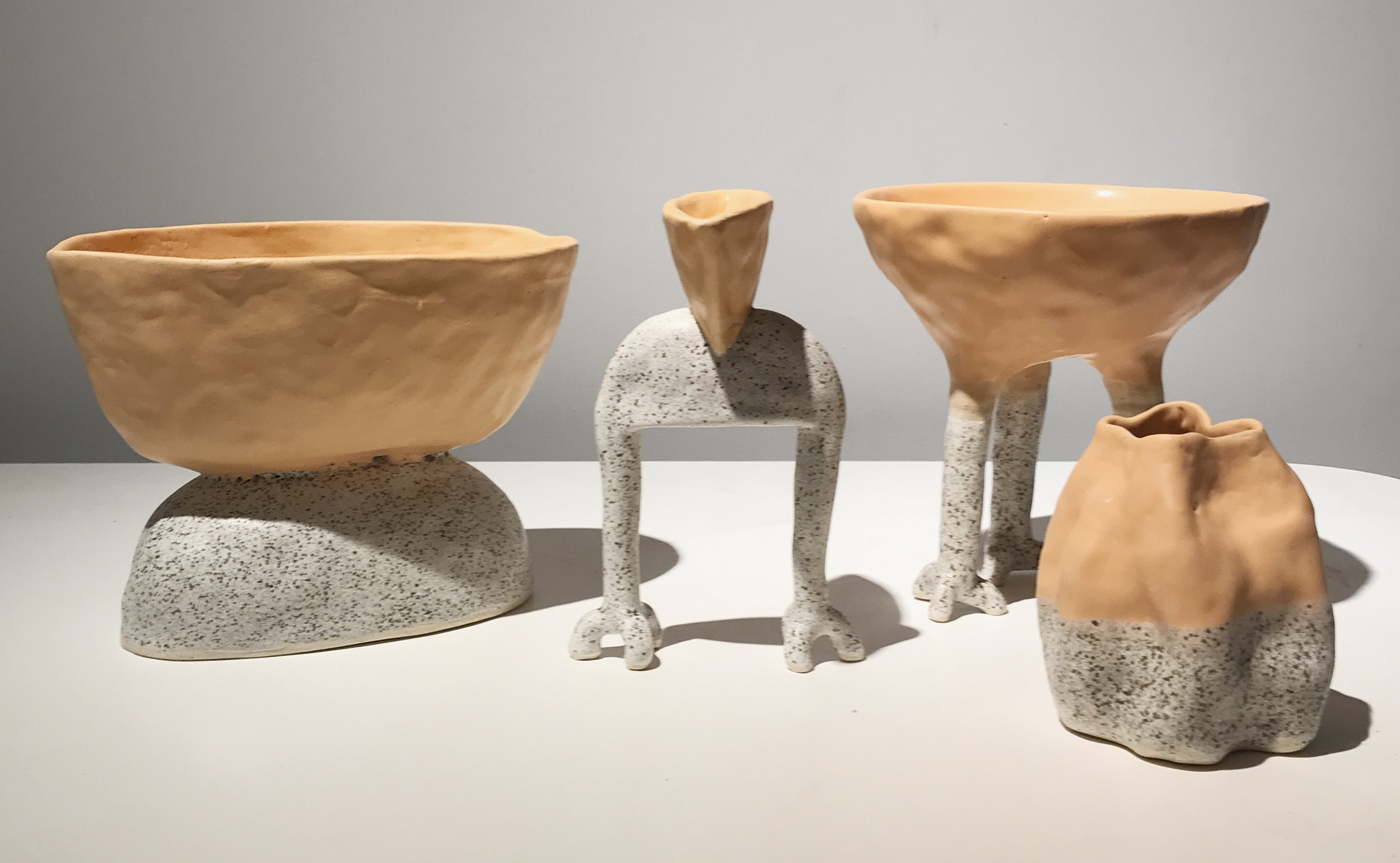 Vessel Series in Thai Iced Tea and Salt N' Peppa glazes