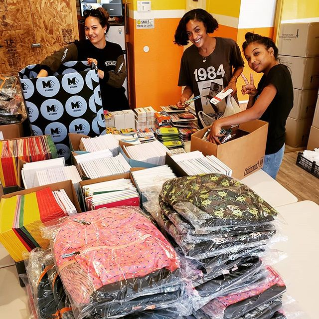 BACK-TO-SCHOOL NECESSITIES collaboration with @movingforwardtgthr. We're extremely grateful for YOUR support and filling 200 backpacks for Angeles Mesa elementary students. . . We offer school supplies year-round and couldn't do it without our donors, supporters, and partnerships. Thank you for being a Change Agents with us! . . #mindelevation #mindfulness #emotionalintelligence #criticalthinking #resilience #socialresponsibility #youthdevelopment #wellbeing #mentalhealth #healthandwellness #healthykids #innercity #southcentral #southla #losangeles #community #unity  #education #academic #youth #children #nextlevel