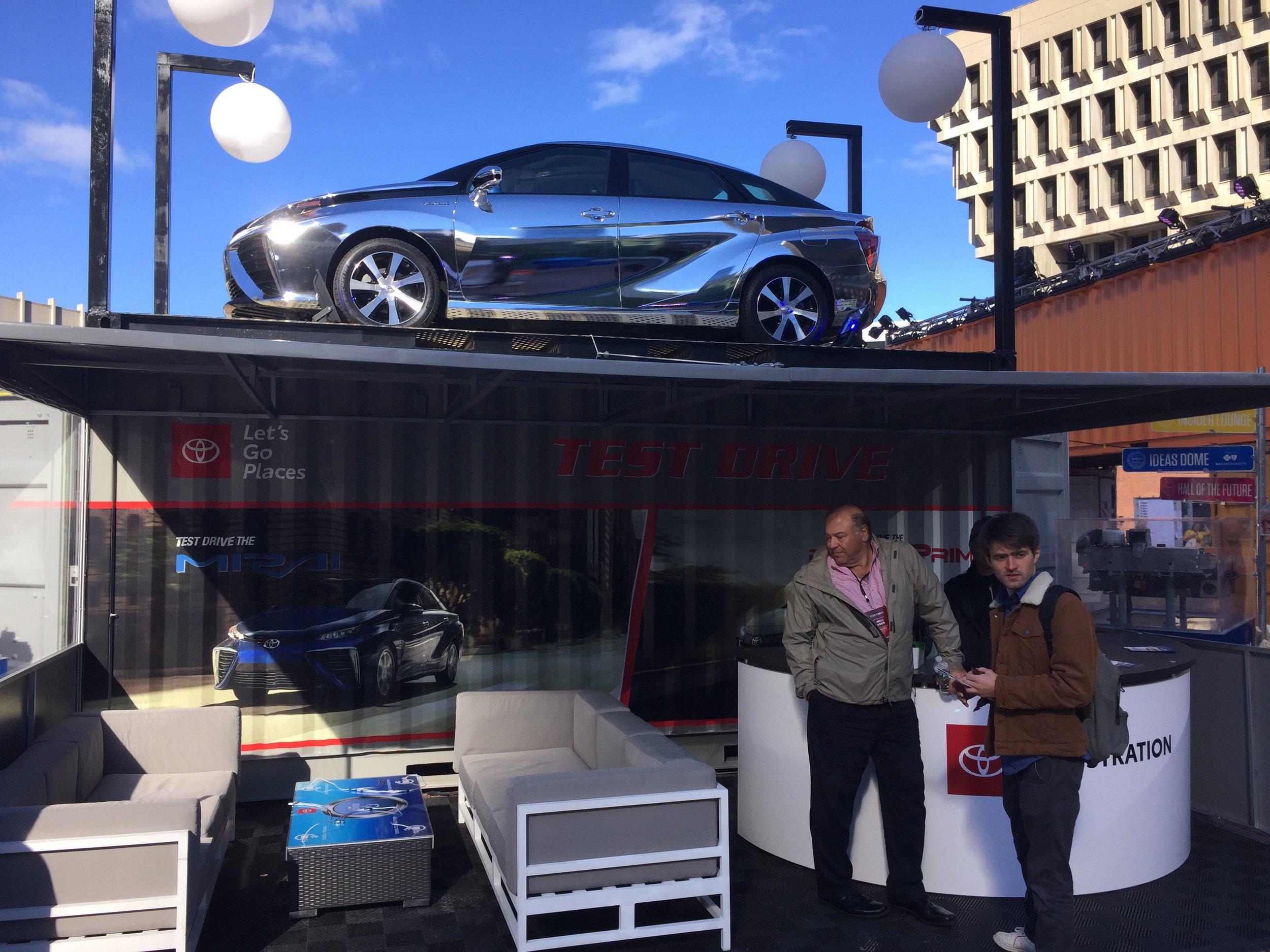 The Toyota Mirai lead generation lounge