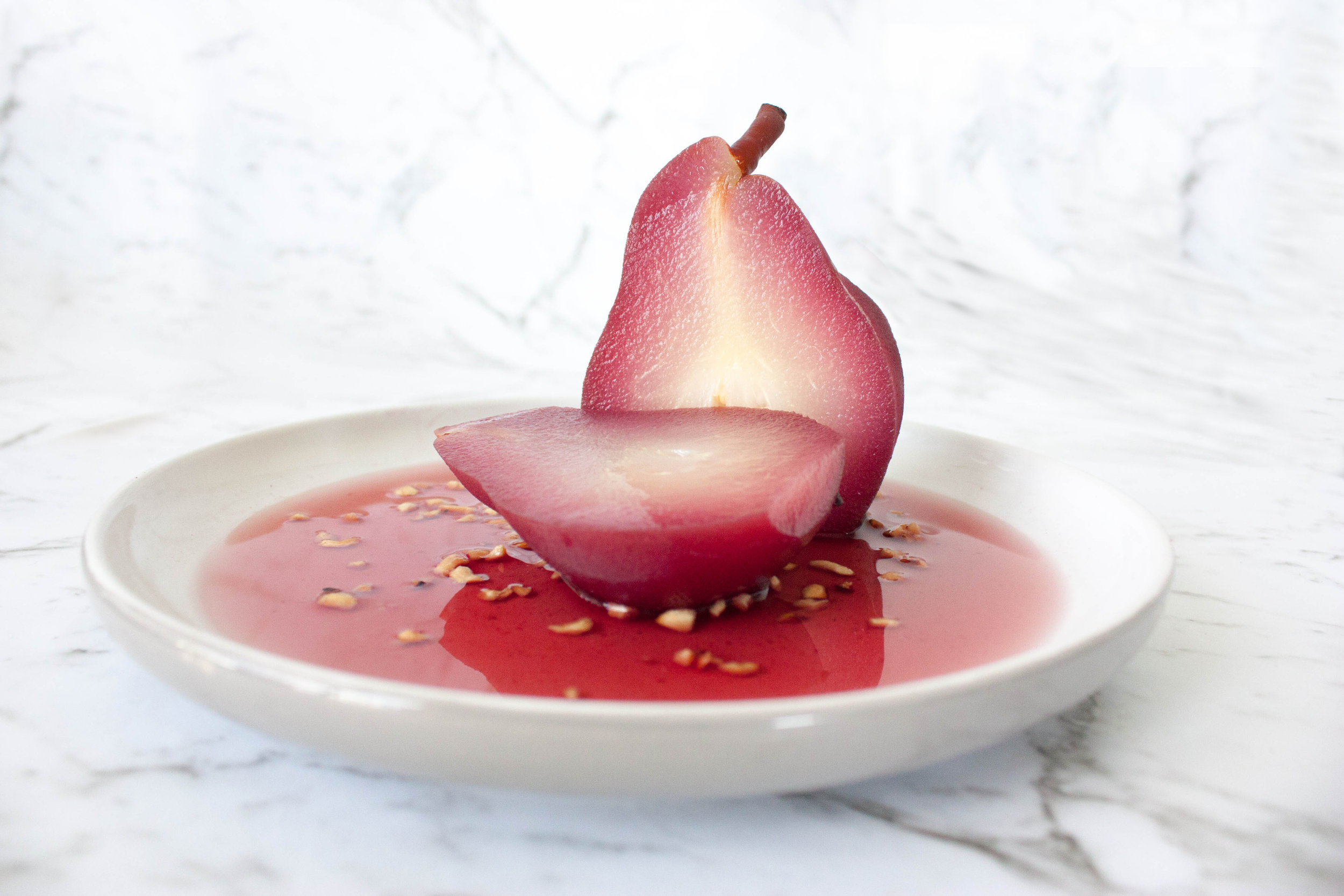 Red Wine Poached Pear - Kitty Gang