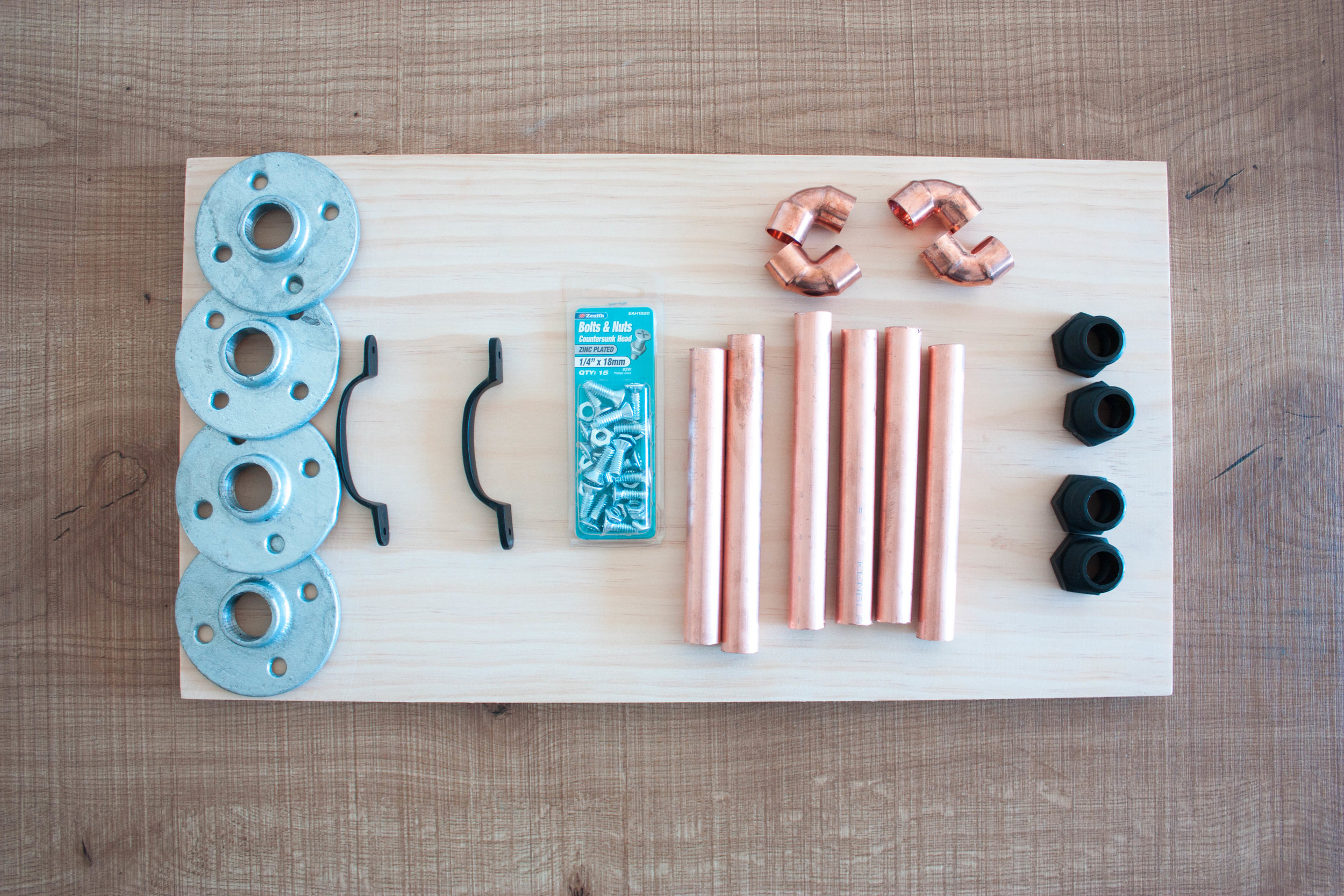 DIY mothers day - breakfast in bed tray supplies