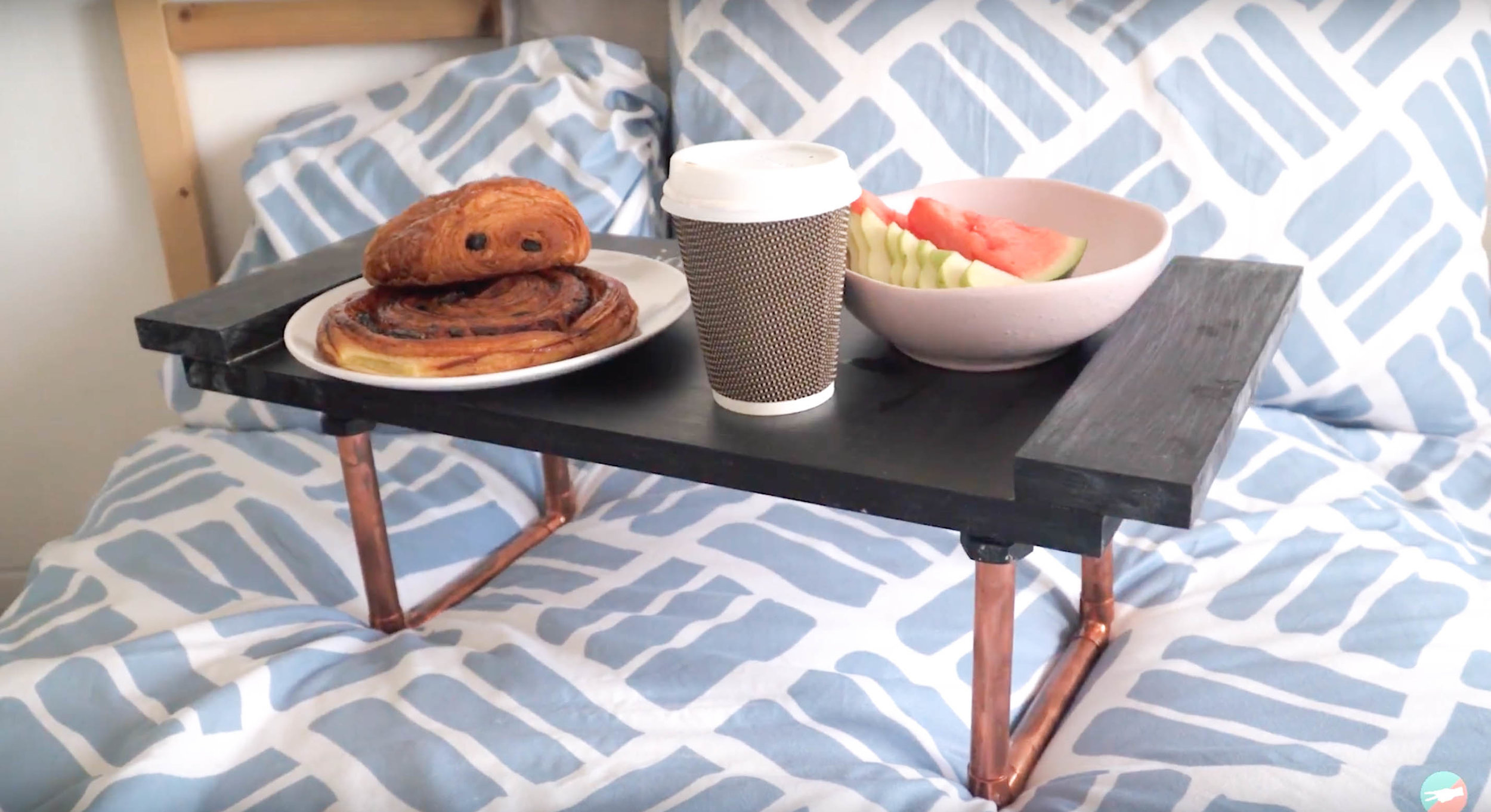 DIY breakfast in bed tray