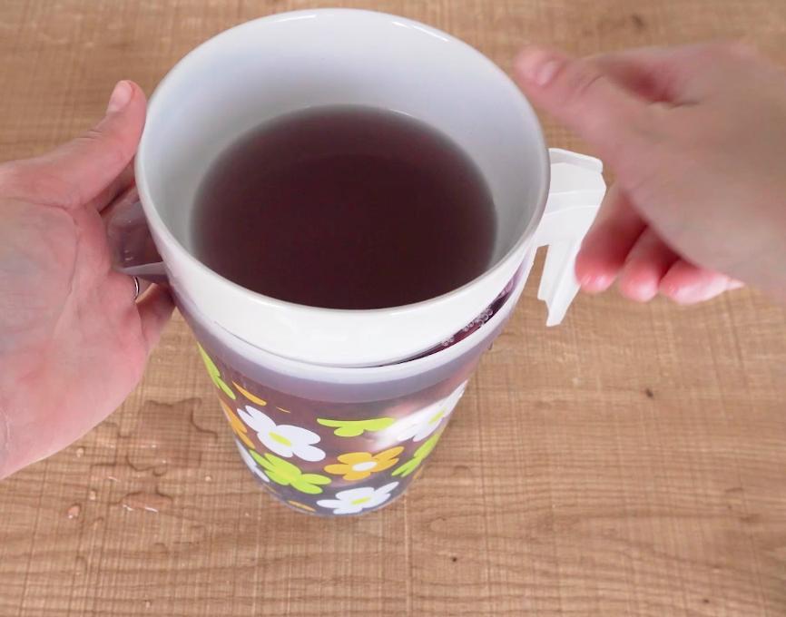 Submerge fabrics in bean water. -