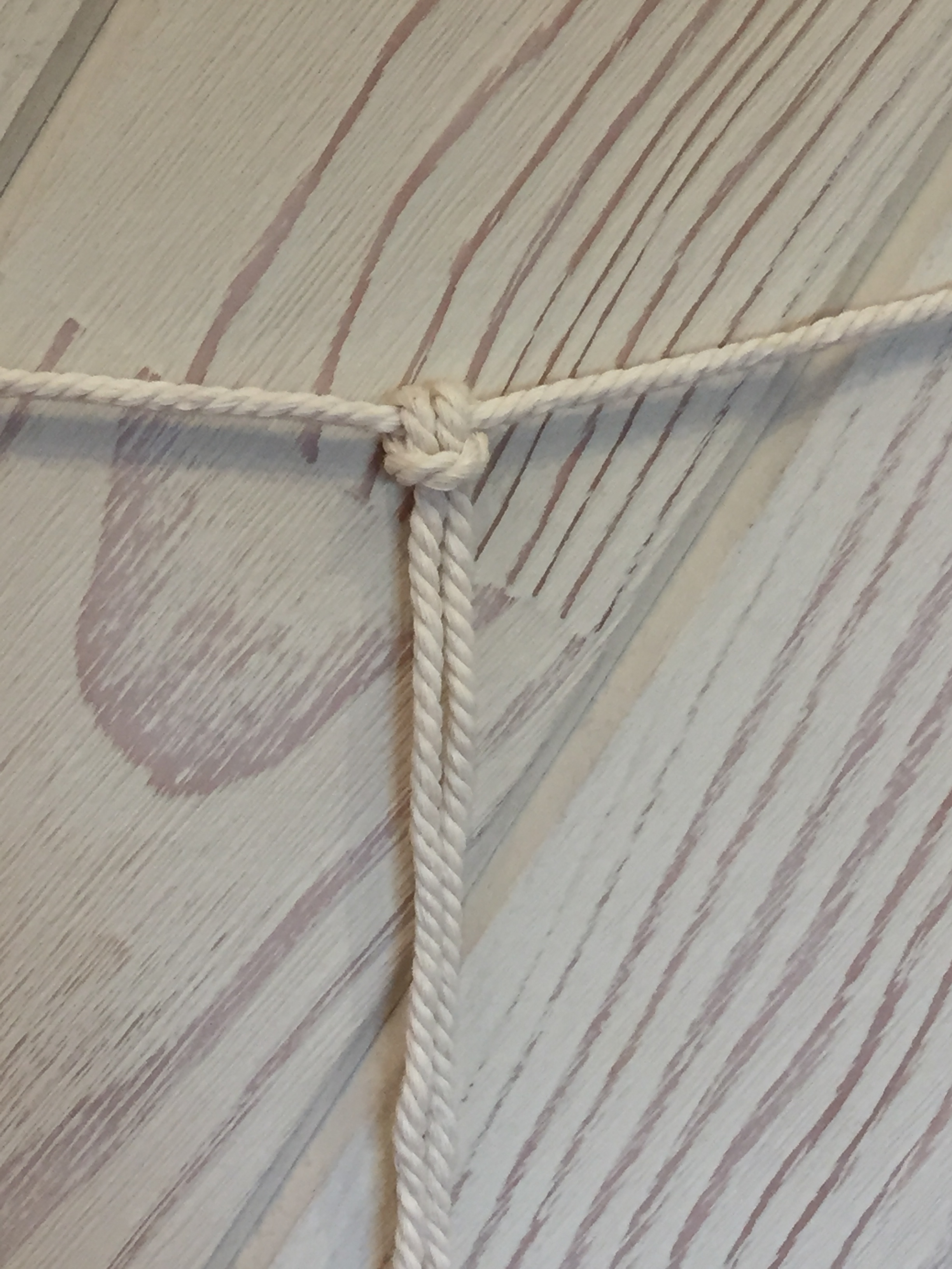 Loop knot on the main line. -