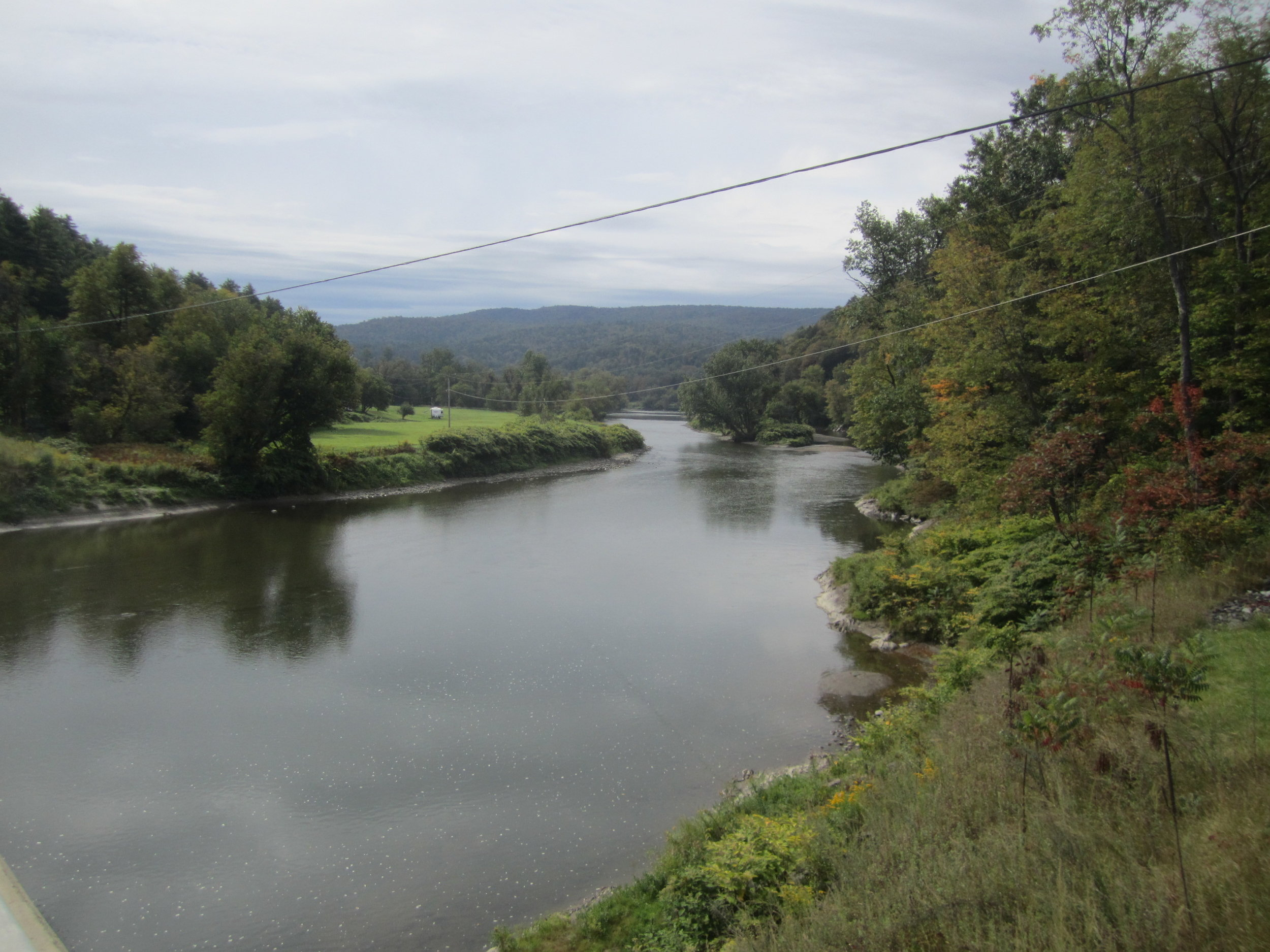 Crossing over the Winooski River