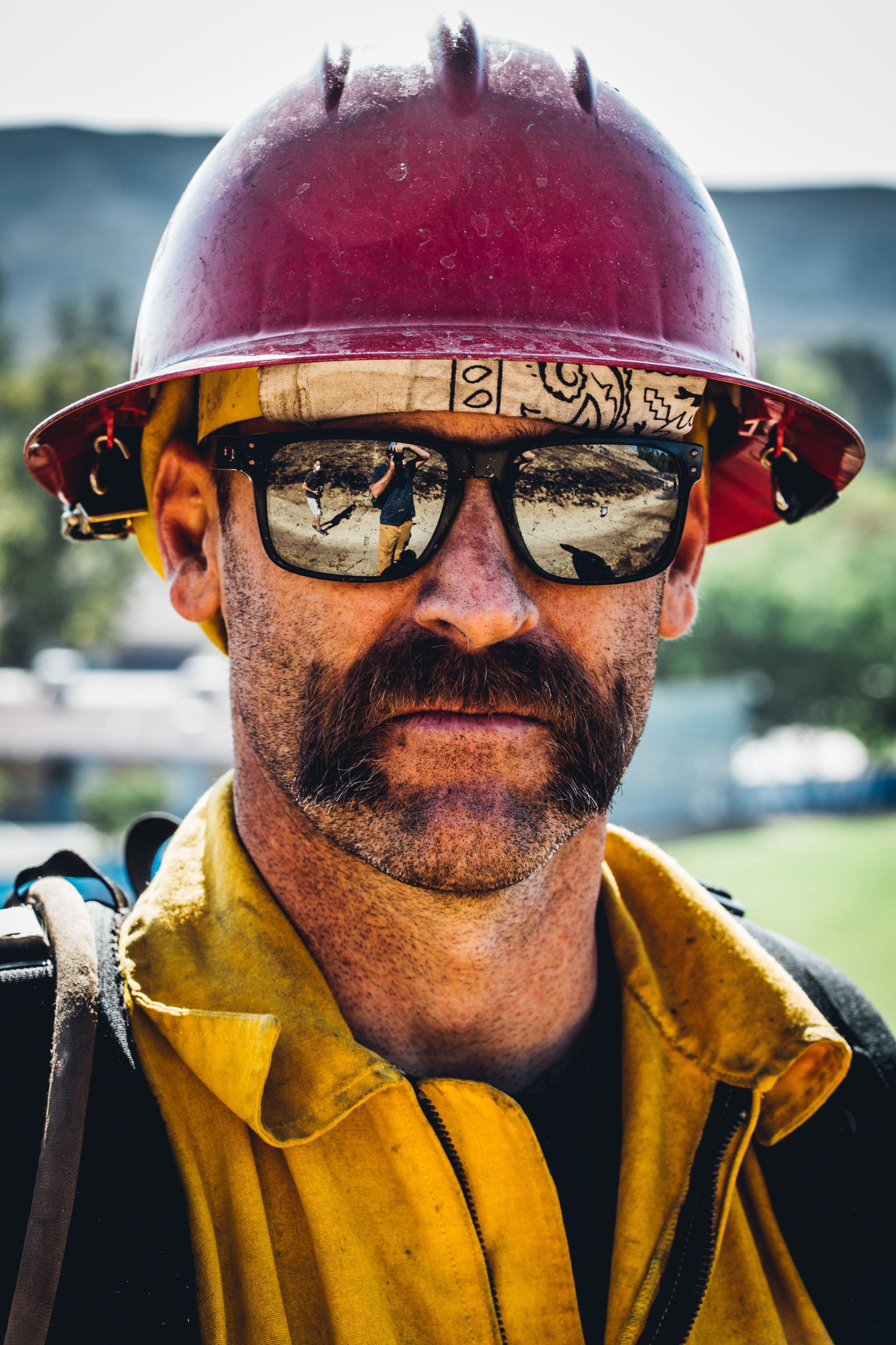 Firefigher from Woosley Fire