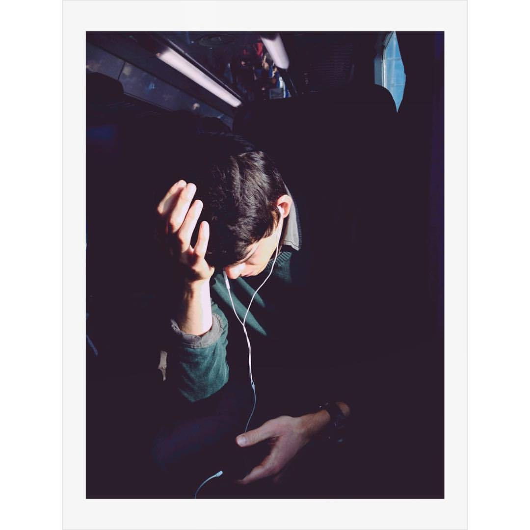 Lonly man on a train. #modena #italy #italia #fotomobile #fotografia #colours #mypolaroids #antoniosansica #portrait #traveling #emilia #emiliaromagna #everyday_italy #lonly #alone #modern #photooftheday #photography #solitude