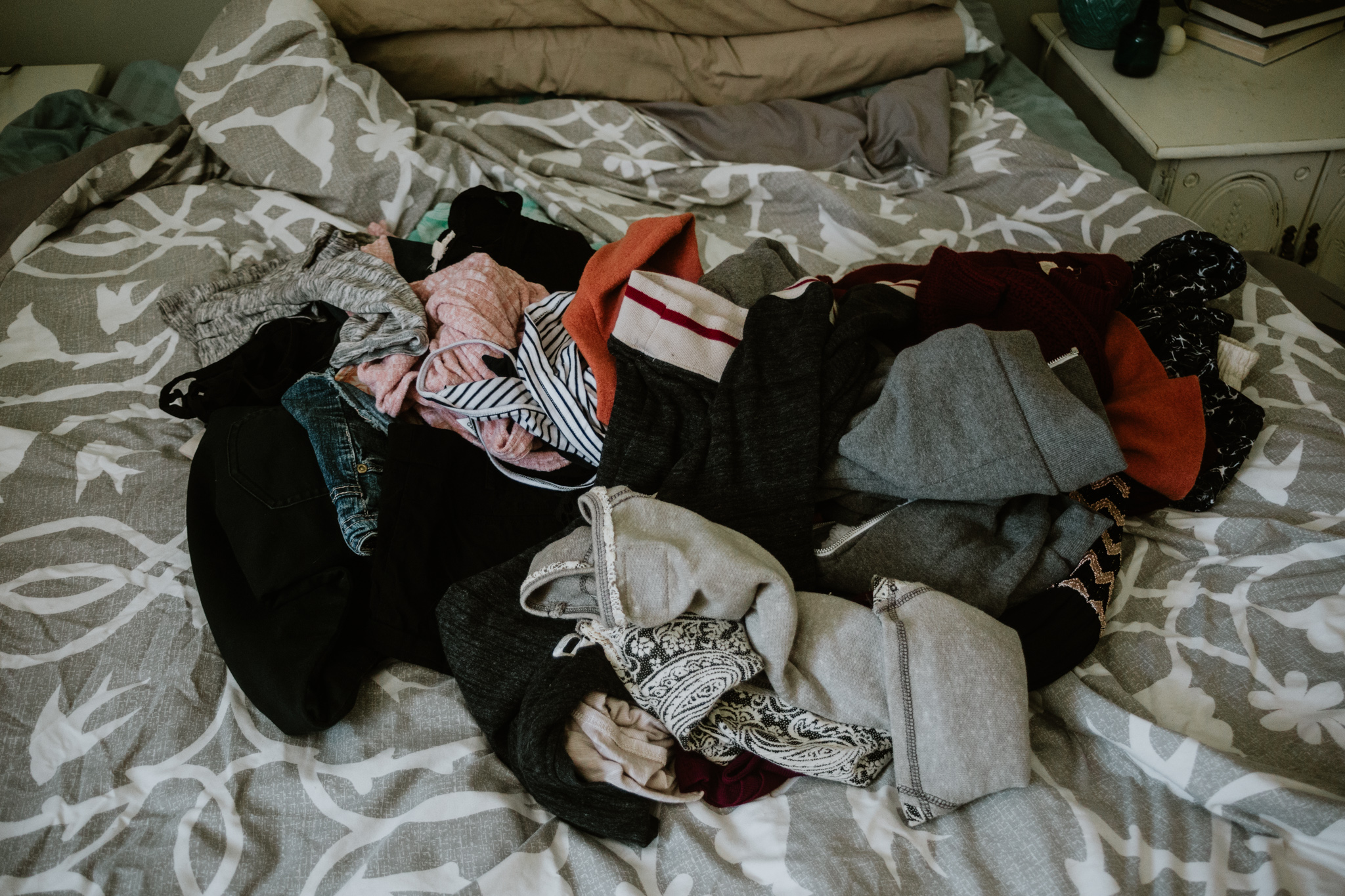 My pile of clothes to sell/donate