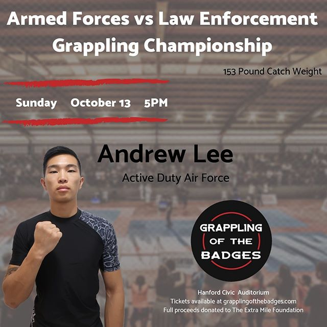 Our latest fundraiser! Andrew Lee will be fighting this October in a military submission grappling competition. All proceeds go to @extramilefoundation . Please contact us if you'd like to become a sponsor and donate! All donations are tax deductible  #bjj #grappling #ufc #fight #bellator #jiujitsu