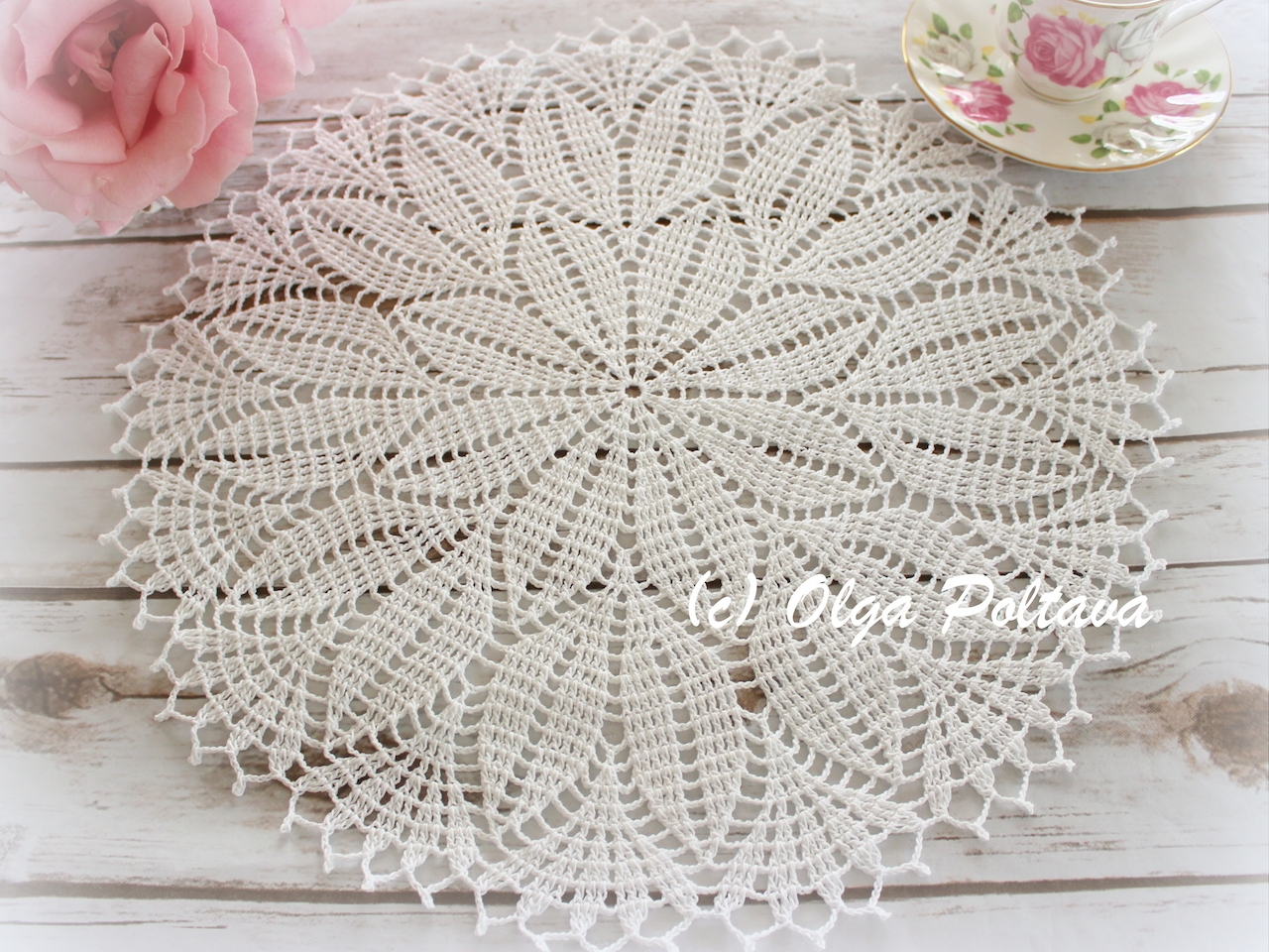 Spring Leaves Doily