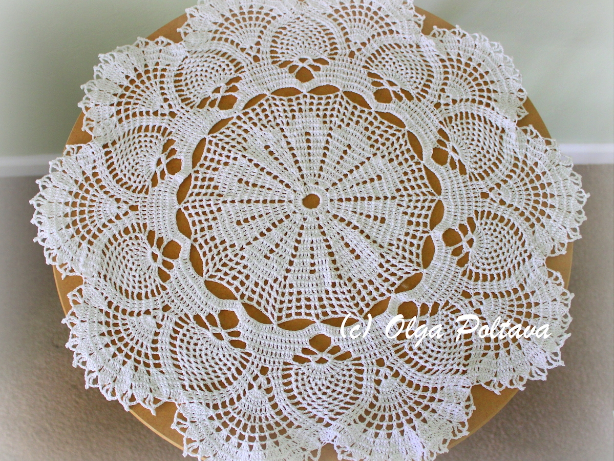 Pineapples and Fans Doily