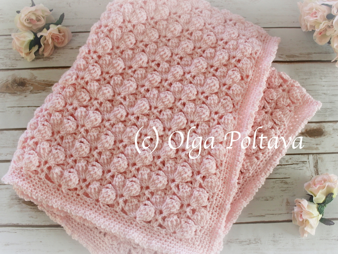 Pink Marshmallows Baby Blanket