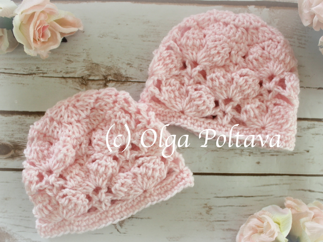 Pink Marshmallows Baby Hat