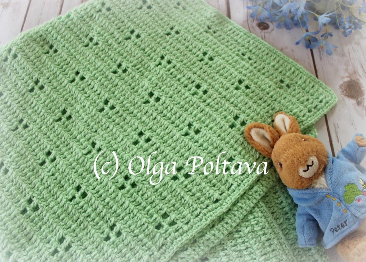 rabbit tracks crochet baby blnaket 2.JPG