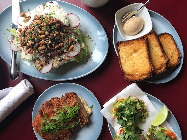 iceberg wedge, chicken katsu, tuna tostada, signature house made cheese brioche