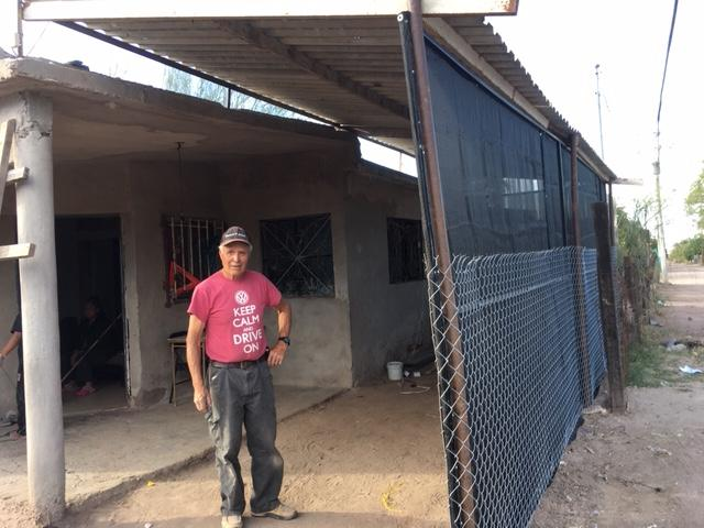 This was the first project for the children's program - to put up screening to protect the children from the sun. Thanks John - he is the building project manager.