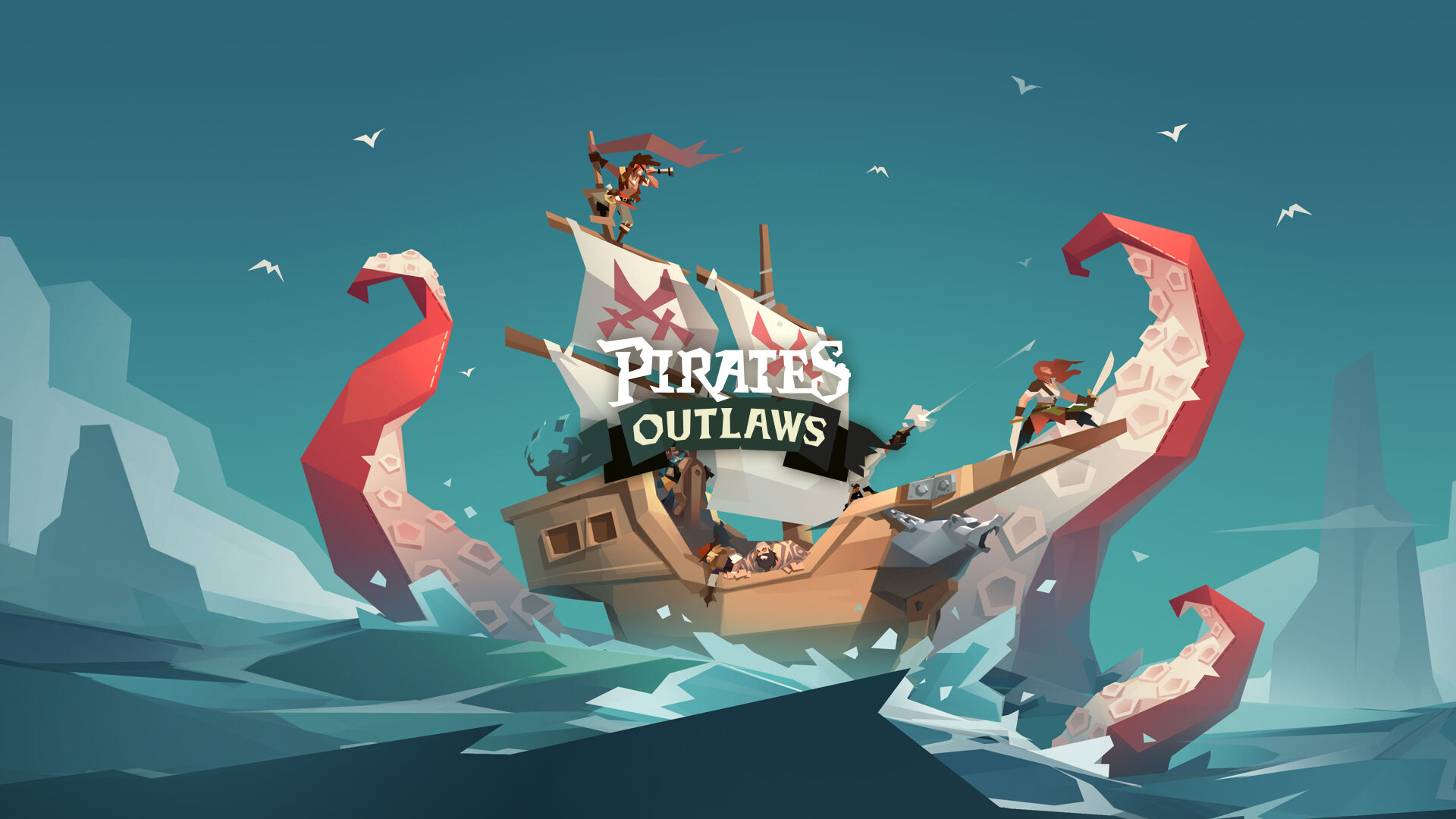 PIRATES OUTLAWS - A unique roguelike card game with his own mechanics. An easy to play and addictive deck builder…
