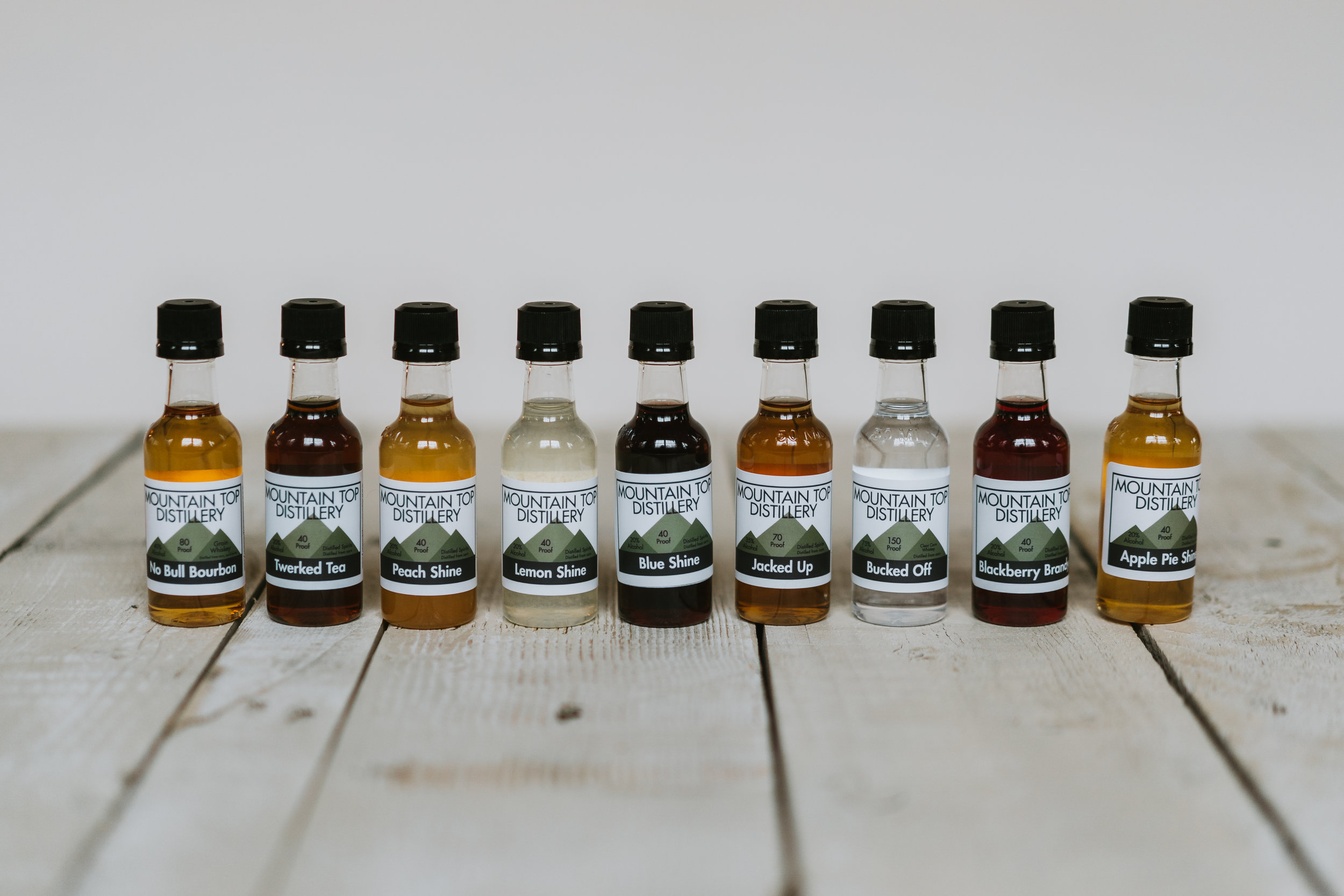 Nip bottles of Mountain Top Distillery product in Williamsport PA
