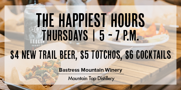 Happy Hour Restaurant Nippennose Valley Wednesday Thursday Friday at Bastress Winery