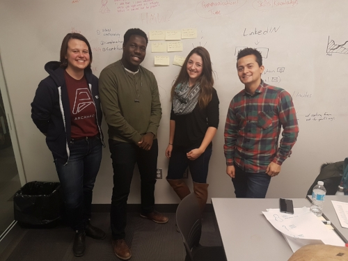 My team, Katherine Alexander, Juan Carrillo, Seyitan Oke, and Katrina Schouten. ended up coming 2nd place with positive feedback from the judge and mentors. Keep reading to see our thought process behind our solution!